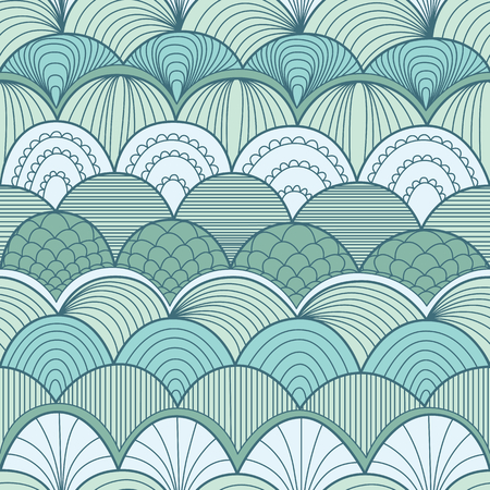 Abstract seamless pattern with waves