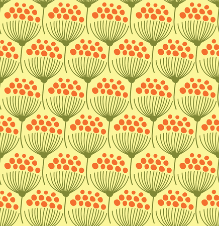 umbel: Seamless pattern with flowers
