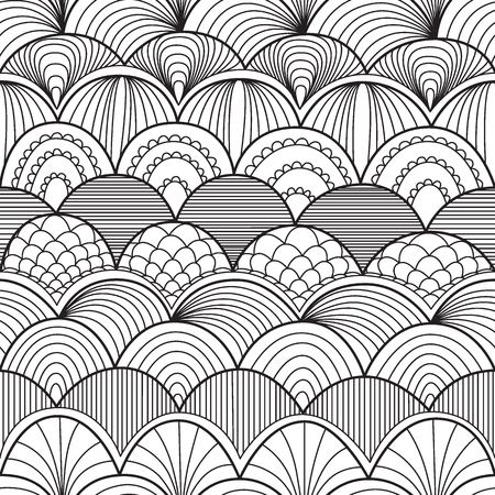 repetition: Abstract seamless pattern with waves