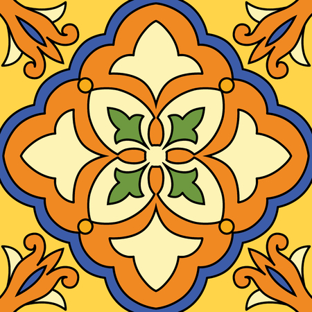 seamless tile: Vector beautiful seamless ornamental tile background.