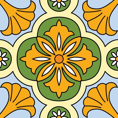 floral seamless pattern: Vector beautiful seamless ornamental tile background.