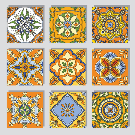 Vector beautiful seamless ornamental tile background.