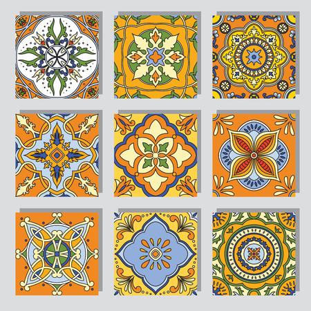 seamless geometric: Vector beautiful seamless ornamental tile background.