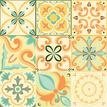 Naadloos patroon in Italiaanse stijl. Vector heldere achtergrond