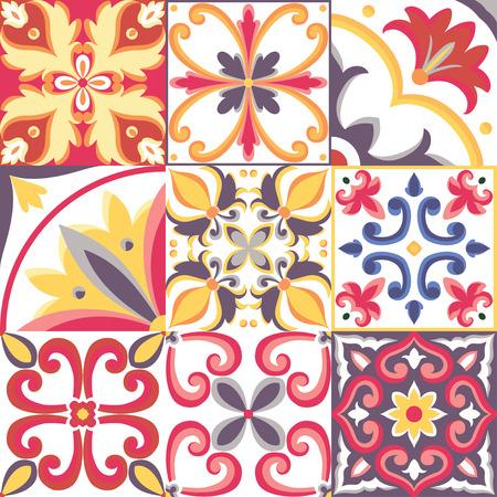 Naadloos patroon in Italiaanse stijl. Vector heldere achtergrond Stock Illustratie
