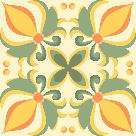 Beautiful seamless ornamental tile background in Italian style