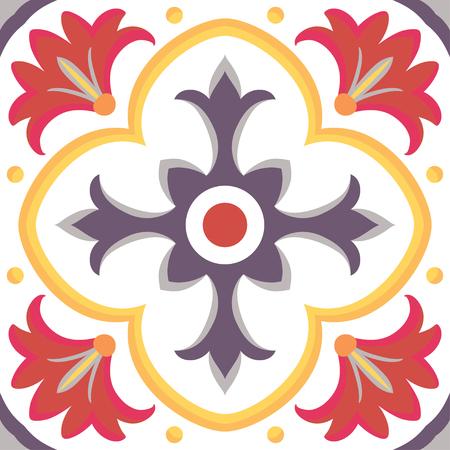 ceramic tiles: Beautiful seamless ornamental tile background in Italian style