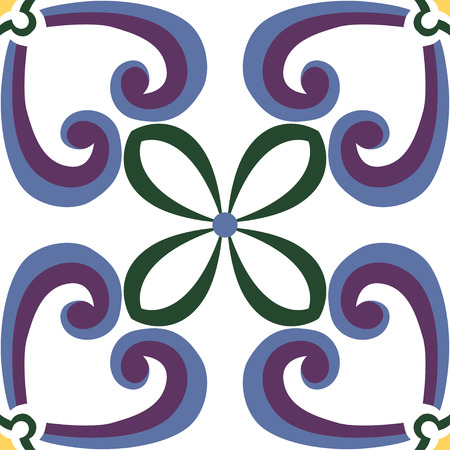 seamless tile: Beautiful seamless ornamental tile background in Italian style