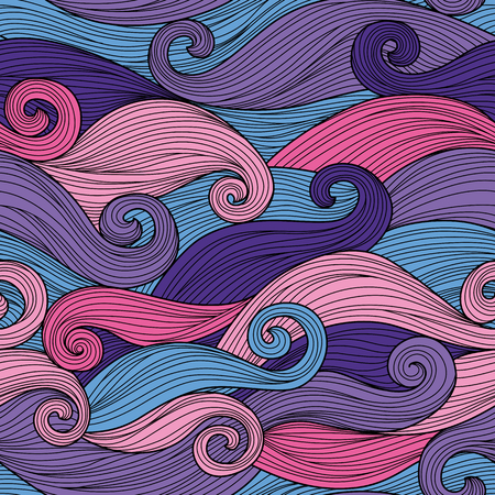 abstract waves: Vector seamless pattern with abstract waves Illustration