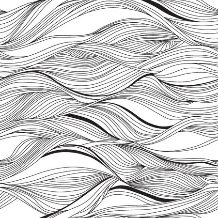 ベクターのシームレスな抽象的なパターン、波