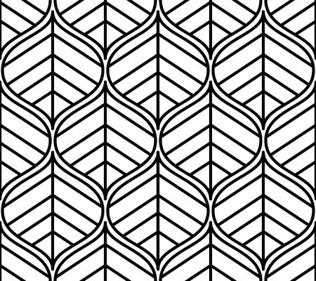 Seamless pattern. ornamento grafico. elegante sfondo floreale. Vector ripetendo tessitura con foglie stilizzate