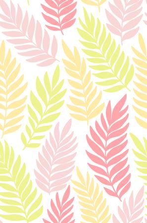 エキゾチックな葉、熱帯雨林。シームレス パターン。背景。  イラスト・ベクター素材