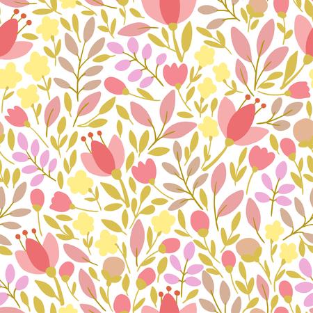 soulful: Elegant seamless pattern with flowers, vector illustration Illustration