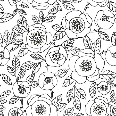 wall hanging: seamless vintage pattern with flower.Can be used for desktop wallpaper or frame for a wall hanging or poster,for pattern fills, surface textures, web page backgrounds, textile and more