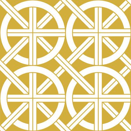 Gold ethnic seamless background. Vector illustration