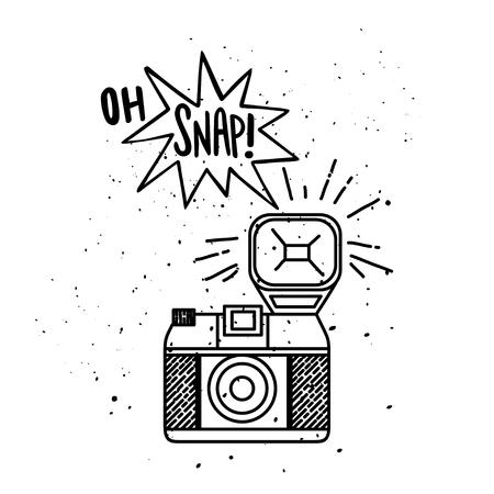 Vector illustratie met fotocamera