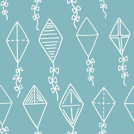 flying kites: Kites seamless pattern. Flying kites background. Vector illustration