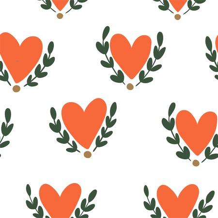 seamless pattern: Hearts seamless pattern Illustration