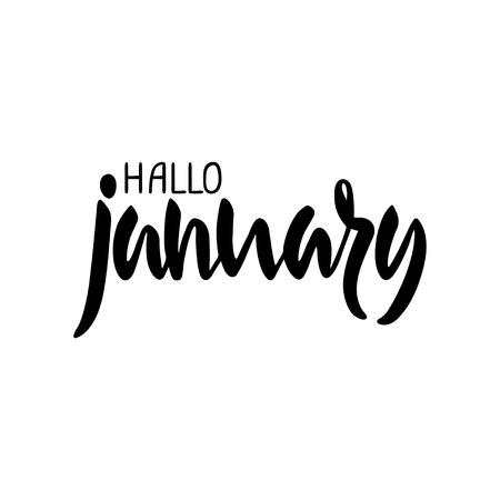 jan: Hallo January lettering