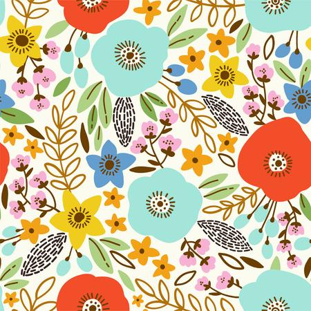 seamless pattern: Beauty seamless poppy pattern