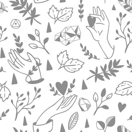 seamless pattern: Seamless hands pattern.