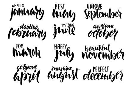 Set composto da lettere a mano dell'anno