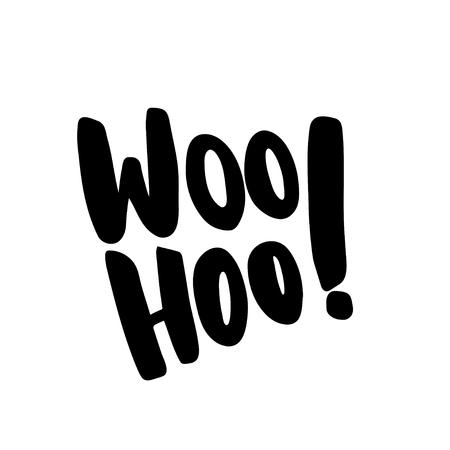 woo: Woo Hoo lettering