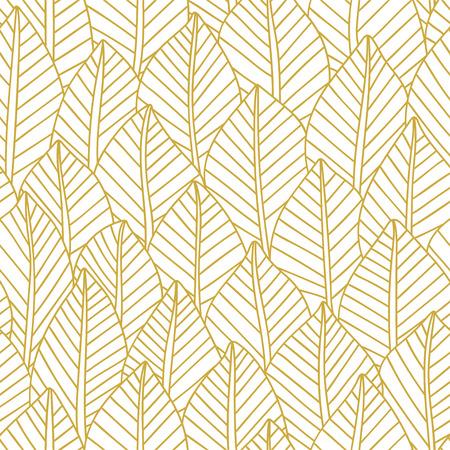 Elegant seamless pattern leaves, vector illustration
