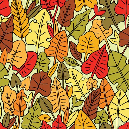 Leaves seamless pattern. Graphic design with amazing leaf. Fashion, interior, wrapping, packaging suitable.