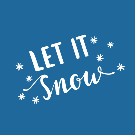 Let it snow, vector text for design greeting cards, photo overlays, prints, posters