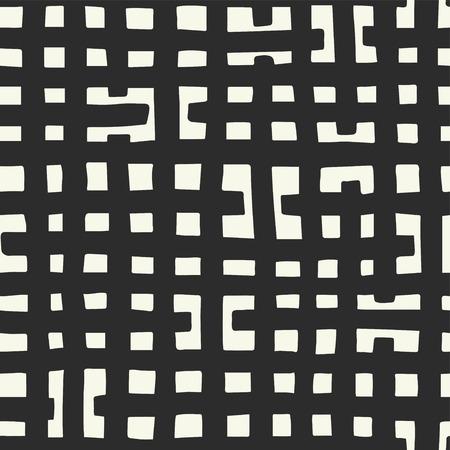 Hand drawn checked pattern