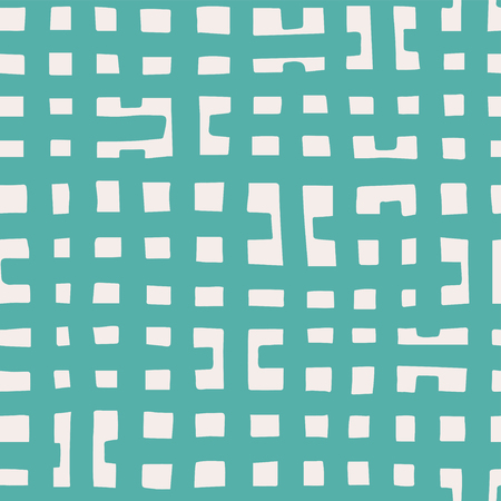 Vector seamless pattern. Hand drawn checked lines in cool artsy textured background design.