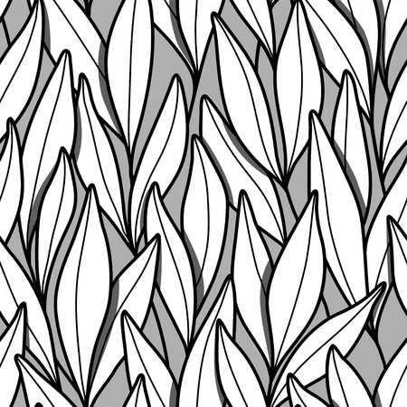 Pattern with branches and leaves.
