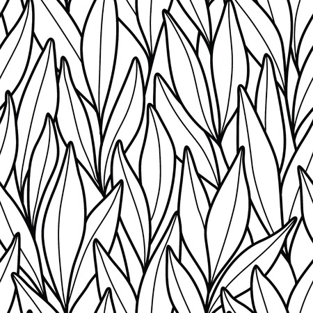 Pattern with branches and leaves. Banque d'images - 121699421