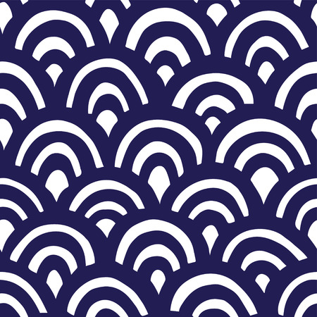 Seamless hand drawn waves pattern Banque d'images - 121699422