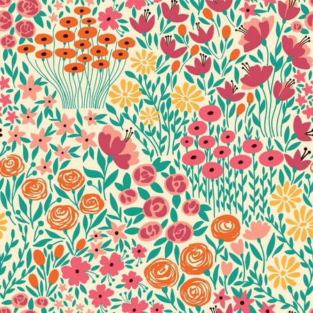 Cute seamless floral pattern with small flower