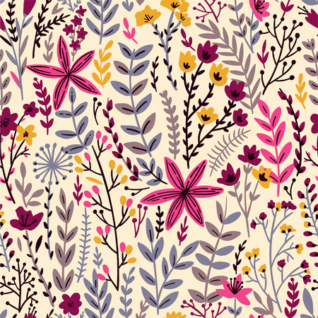 Cute Floral seamless pattern with tiny flower