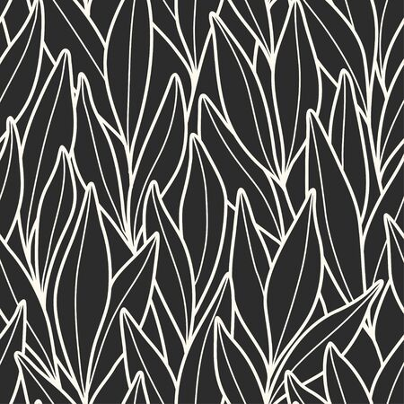 Vector seamless pattern with branches and leaves. Ilustrace