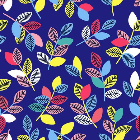 Beautiful seamless pattern with leaves.