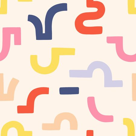 Geometry minimalistic pattern with simple shape and figure. Abstract vector pattern design in Scandinavian style for web banner, business presentation, branding package, fabric print, wallpaper