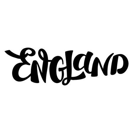 Handwritten word England. Hand drawn lettering.