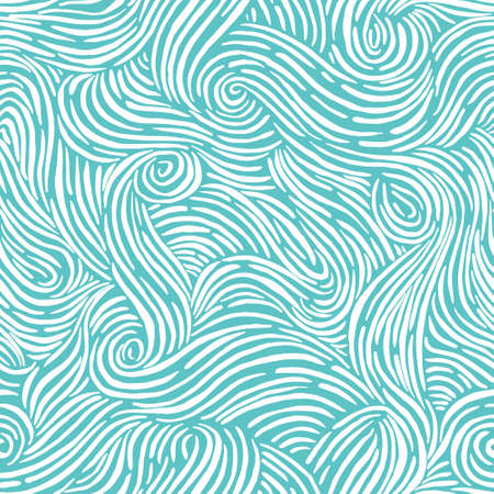 Seamless pattern with waves. Design for backdrops with sea, rivers or water texture. Repeating texture. Surface design.
