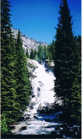 Verborgen Falls in het Grand Tetons Stockfoto
