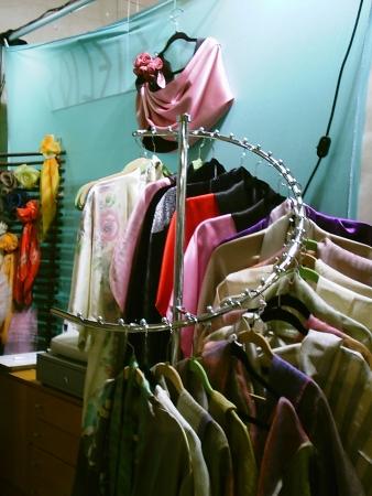 Little silk shop Stock Photo