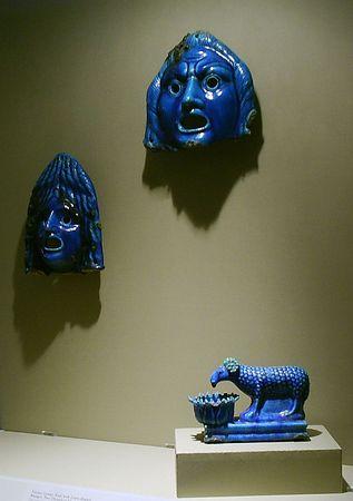 Blue ceramic miniatures
