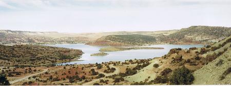 Wyoming landscape - reservoir