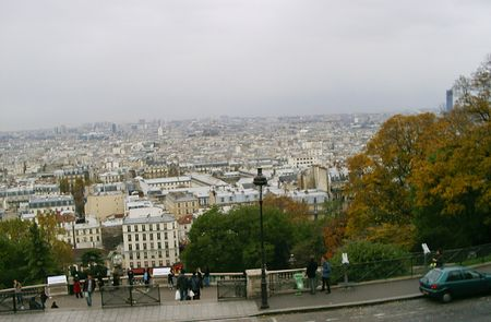 A view of Paris from Sacre Coeur