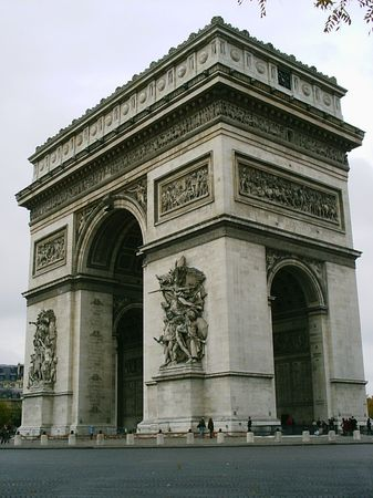 Arc de Triomph in Paris Stock Photo