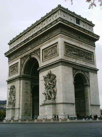 Arc de Triomph in Paris Banque d'images