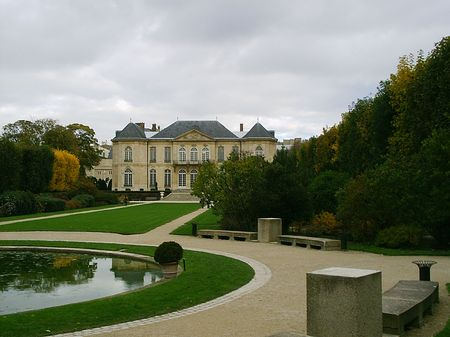 Rodin museum park Stock Photo